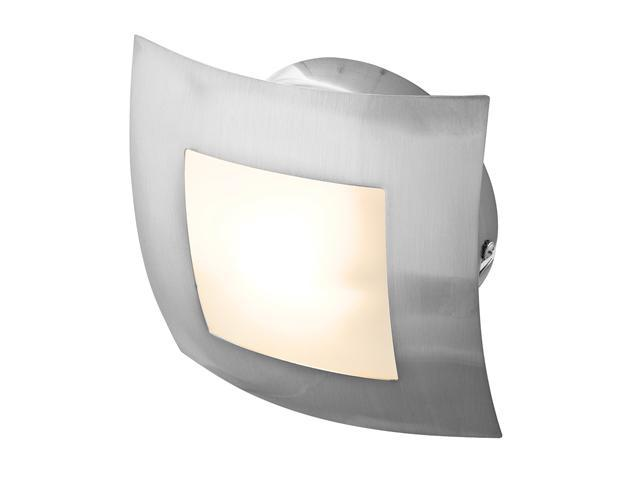 Access Lighting Argon Wall or Ceiling Fixture - 1 Light Brushed Steel Finish w/ Opal Glass