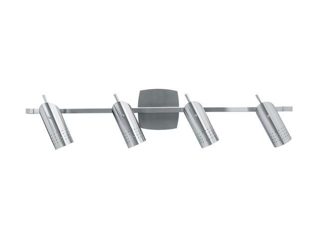 Access Lighting Odyssey Contemporary Ceiling or Wall Spotlight Rail - 4 Light Brushed Steel Finish