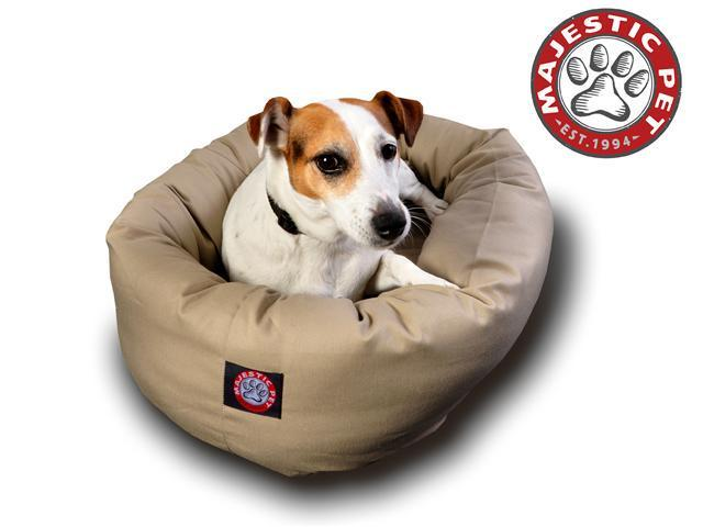 "Majestic Pet Small 24"" Bagel Dog Bed (24""x22""x9"") - OEM"