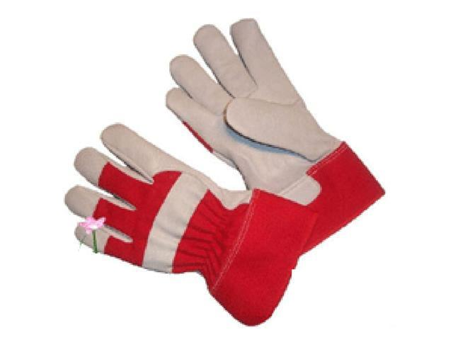 G & F Top-Grain Goatskin Kids Garden Gloves with Rubberized Safety Cuff, Kids Size (10 yr+), 1 Pair.