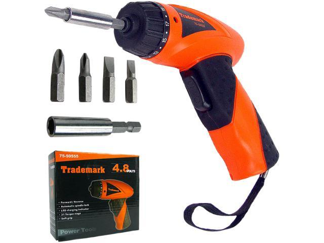 Trademark 4.8V Cordless Screwdriver with Charger