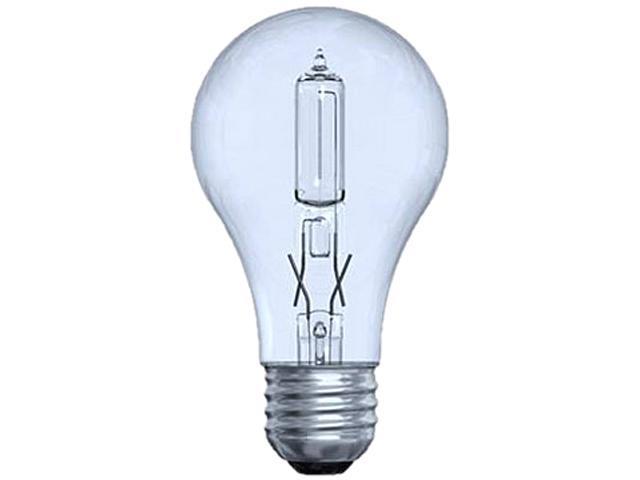 GE Lighting 78796 Halogen Lighting, A-line, A19, 43A/CL/H-2PK