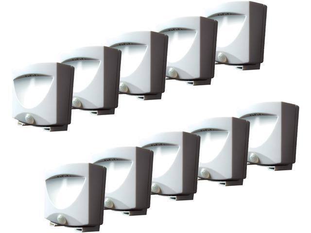 Maxsa Innovations 41041 Outdoor Night Light ,White, 10-Pack