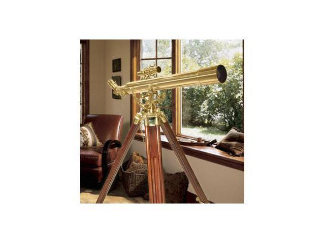 28 POWER TELESCOPE, 70060 BRASS REFRACTOR