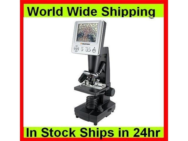 Celestron Digital Microscope w/ 3.5 inch LCD Screen, 2.0 MP Digital Camera 44340