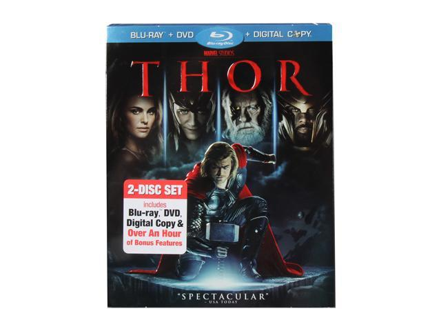 Thor (DVD + Blu-ray/WS) Chris Hemsworth, Natalie Portman, Tom Hiddleston, Anthony Hopkins, Jaimie Alexander