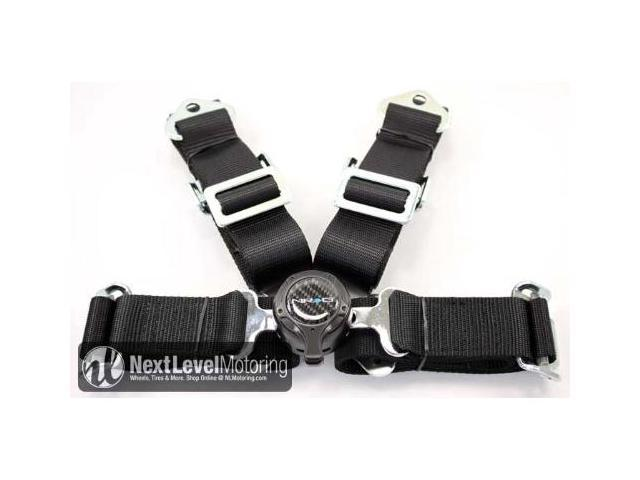 NRG 4 Point Seat Belt Harness / Cam Lock- Black SBH-4PCB