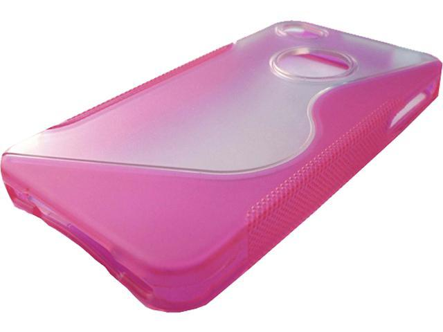 IPHONE4CS-PK - Fresh Tracks Hybrid Case BLUE Soft Sides with Clear Solid Back iPhone 4 Grip Case