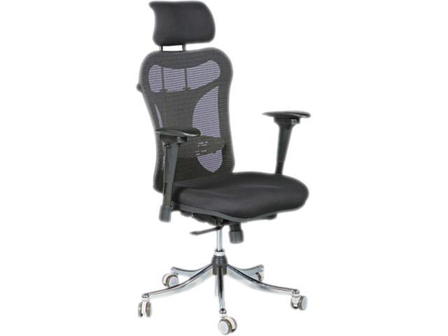 Ergo Ex Executive Office Chair Mesh Back/Upholstered Seat Black/Chrome