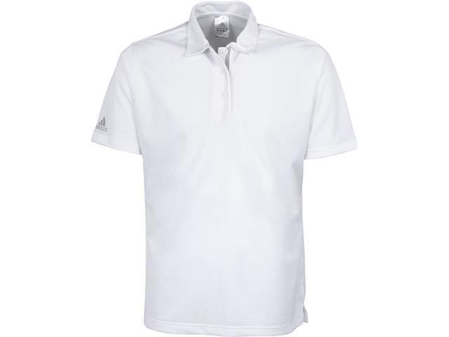 adidas Women's ClimaLite Stripe Polo White Golf Shirt