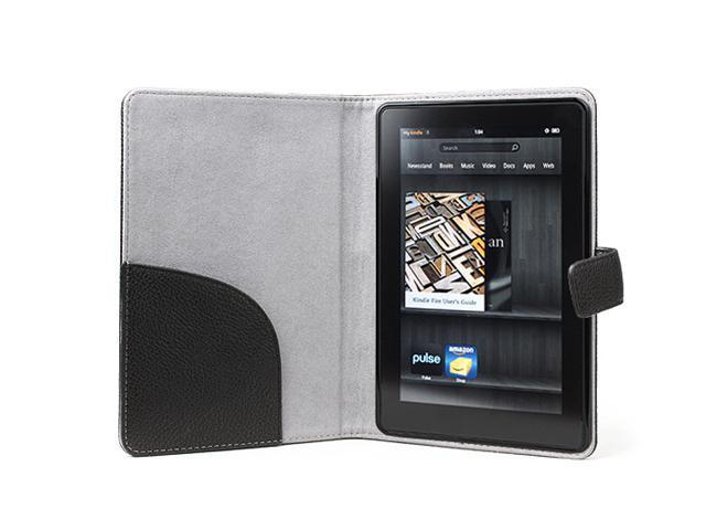 GreatShield MagicPad Slim-Fit Leather Case Cover for Kindle Fire - Black