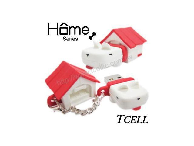TCELL FDDGCGQRW00 Home Dog 8GB USB Flash Drive (Red)