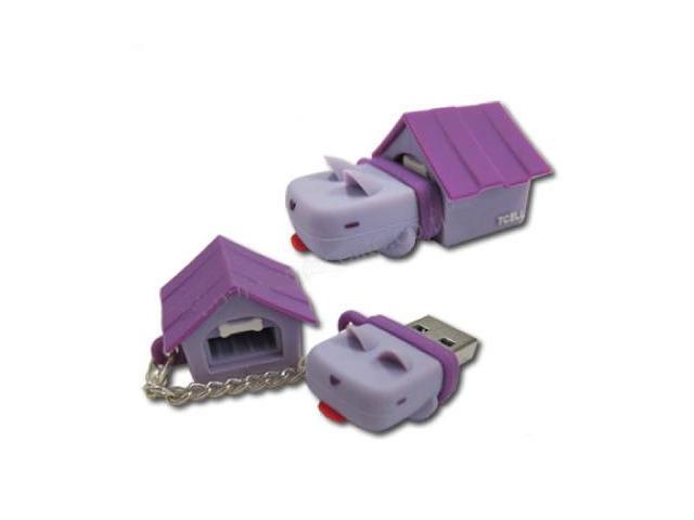 TCell Dog House 4GB USB Flash Drive (Grape Purple)