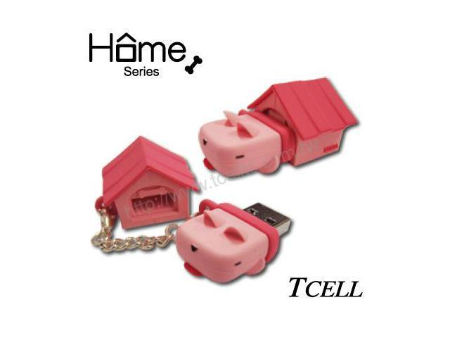 TCELL FDDGCGQPPOO Home Dog 8GB USB Flash Drive (Peach Pink)