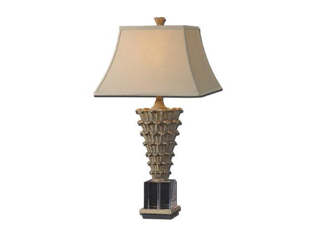 Uttermost David Frisch Antelao Table Lamp Antiqued Gold Leaf