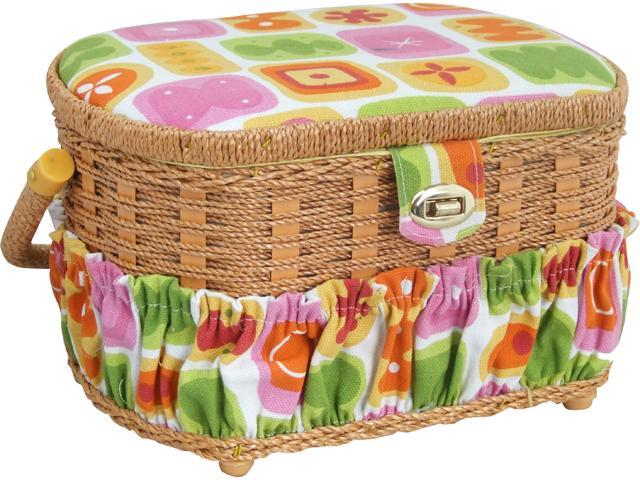 Lil Sew Fs095 Sewing Basket With 42Pc Sewing Kit
