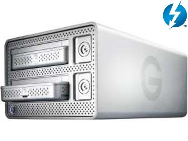 G-Technology G-DOCK ev USB 3.0 / Thunderbolt 2TB 7200 RPM Fully Swappable Dual-Bay Storage System