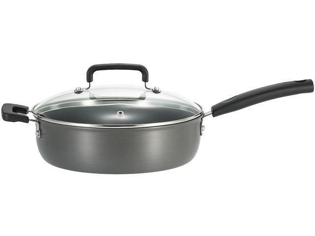 T-fal D9133364 Signature Hard Anodized 10in.  covered skillet - 4.2qt