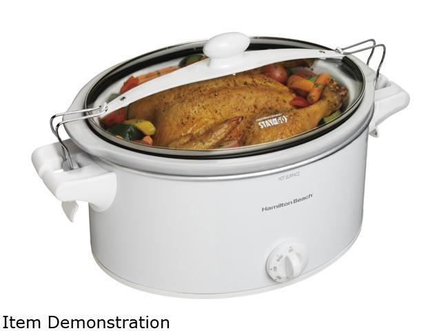 Hamilton Beach Stay or Go Cooker & Steamer - 1.50 gal - White