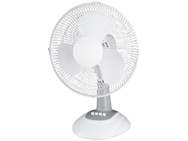 3 Prong Plug Desk Fan : Lorell llr desk fan quot diameter oscillating