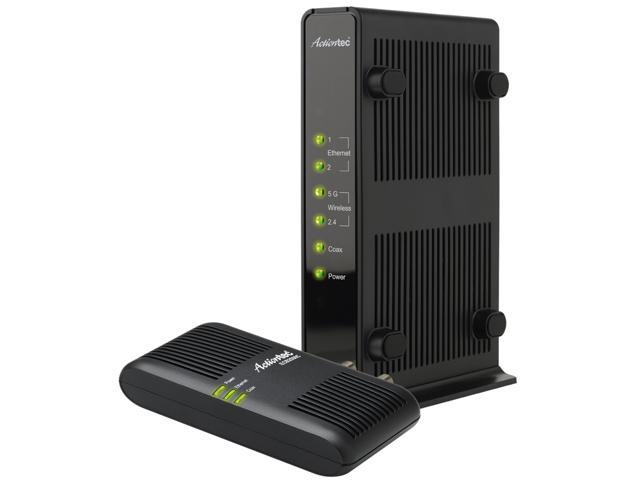 Actiontec MoCA Wireless Dual-Band Gigabit Network Extender and MoCA Ethernet Over Coax Adapter Kit (WCB3000NK01)