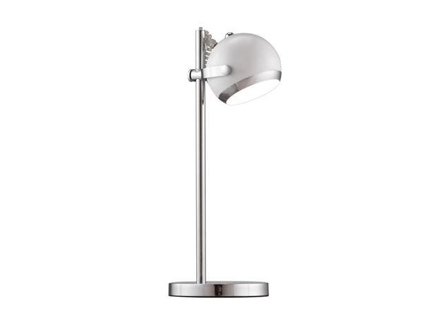 Cyber Table Lamp - White / Chrome By Zuo Modern