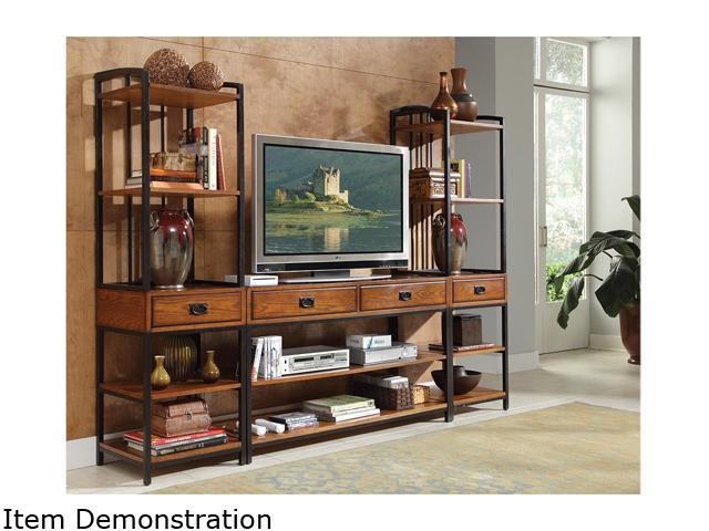Home Styles Modern Craftsman Distressed Oak 3PC Ent Center 5050-34