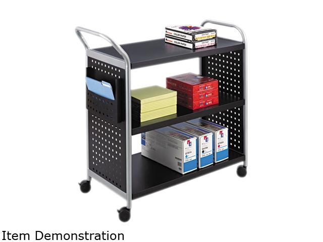 Scoot 3 Shelf Utility Cart in Black by Safco