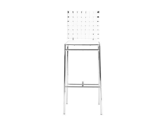Zuo Modern Set of 2 Criss Cross Bar Chair White