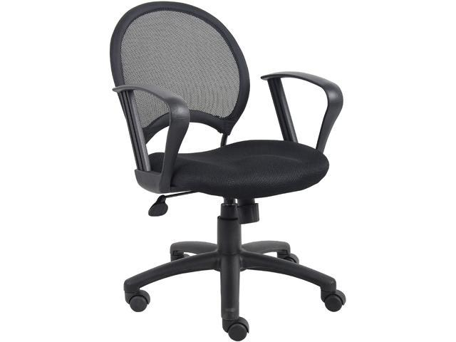 Boss B6217 Mesh Chair with Loop Arms