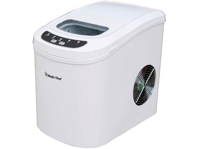 Magic Chef MCIM22W 27 lb. Portable Countertop Ice Maker, White ...