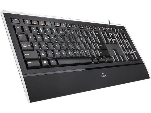 Logitech K740 920-000914 Black USB Wired Slim Illuminated Keyboards