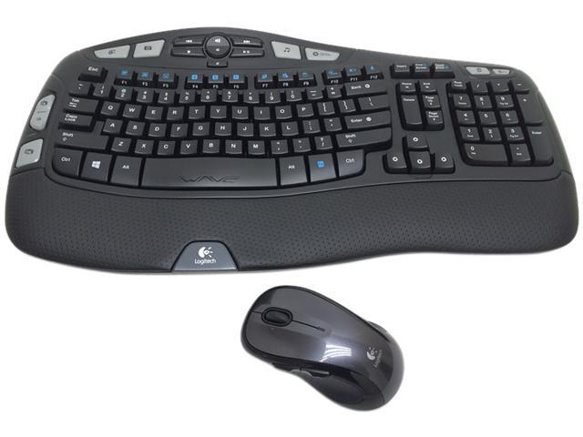 Logitech 920-002555 MK550 2.4 GHz Wireless Keyboard, Mouse - Laser - USB - Contoured - Black