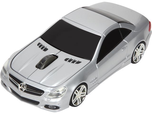 Road Mice Mercedes SL550 HP-11MBS5SXA Silver 1 x Wheel USB RF Wireless Optical Mouse