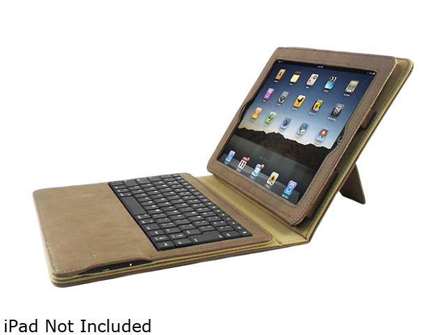 Compucessory Keyboard/Cover Case (Portfolio) for iPad - Tan - Plastic