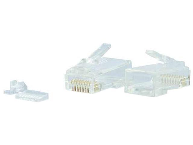 C2G 00890 RJ45 Cat6 Modular Plug for Round Solid/Stranded Cable Multipack (100 pack)