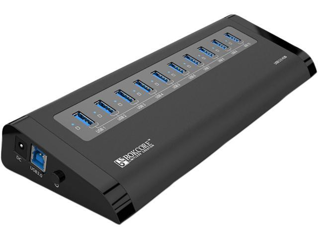 ORICO BC-U3H10 USB 3.0 10 – Port Aluminum HUB with VL812 Controller & Premium 12V / 3A Power Adapter & Detachable USB 3.0 ...