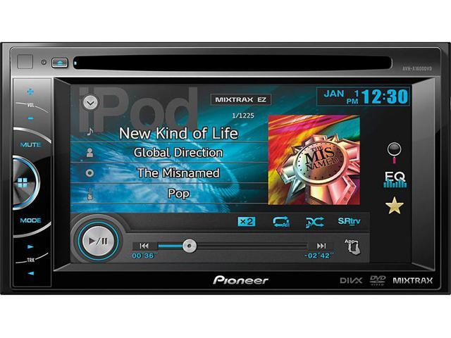 """Pioneer AVH-X1600DVD 2-Din Multimedia DVD Receiver with 6.1"""" WVGA Touchscreen Display"""