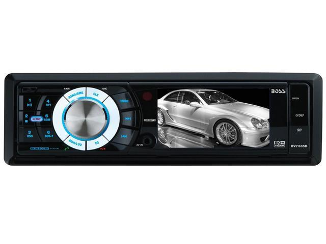 "New Boss Bv7335b 3.2"" Dvd Receiver Widescreen Monitor Am Fm Remote & Bluetooth"