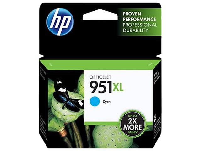 HP 951XL (CN046AN#140) Ink Cartridge 1,500 Page Yield; Cyan