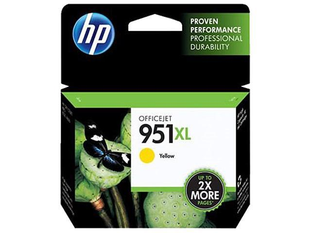 HP 951XL (CN048AN#140) Ink Cartridge 1,500 Page Yield; Yellow