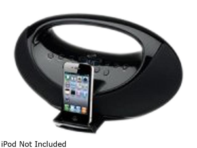 iLive IBP301B Portable Boombox with Docking Station for iPhone,iPod and Digital Tune FM Stereo Radio