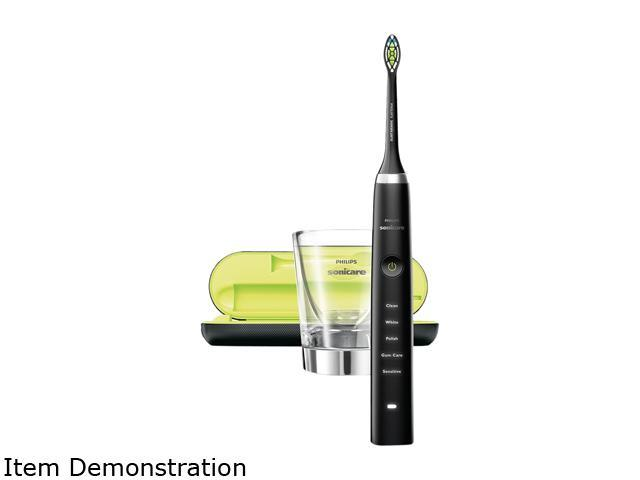 Sonicare Diamond Clean Whitening Electric Toothbrush, Black, HX9352/04