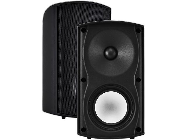 "OSD Audio AP490 4"" 100W Weatherproof Outdoor Patio Speaker, Pair, Black"