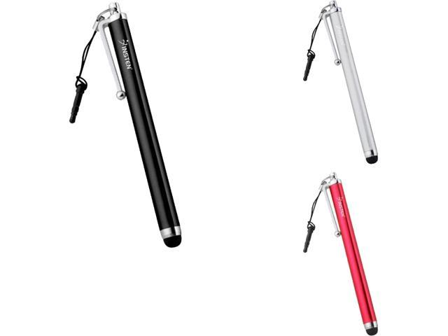 3.5mm Plug Black+Silver+Red Touch Screen Stylus Pen Compatible With iPhone® 3 3GS G 3rd 4S 4