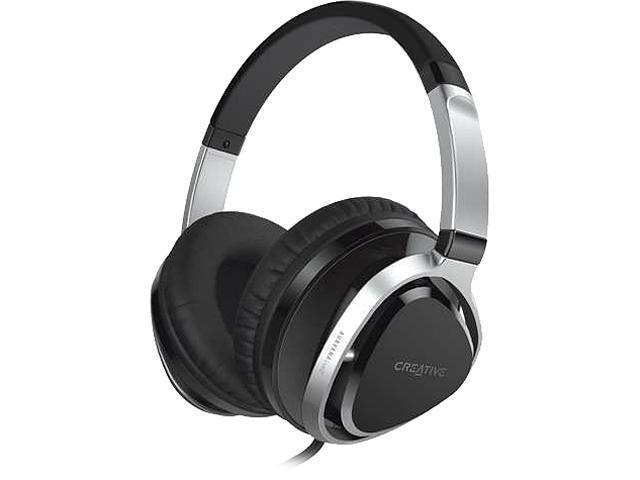 Creative Labs - 51EF0660AA002 - Creative AURVANA LIVE. 2 Headset - Stereo - Black, Dark Chrome - Mini-phone - Wired - 10