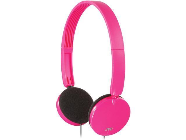 JVC HAS140P Lightweight On-Ear Headband Headphones (Pink)