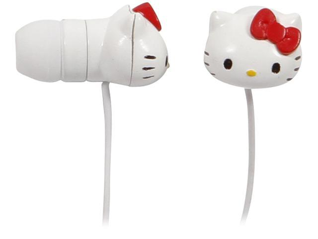 Hello Kitty Earbuds - Pink and White