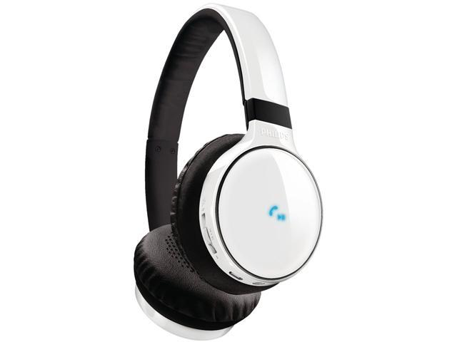 Philips SHB9100 White Wireless Bluetooth Over-the-Head Stereo Headphone with Superior Bass & Optimum Clarity