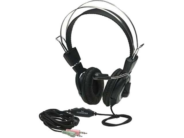 Classic Stereo Headset with Flexible Metal Boom Microphone and In-Line Volume Control